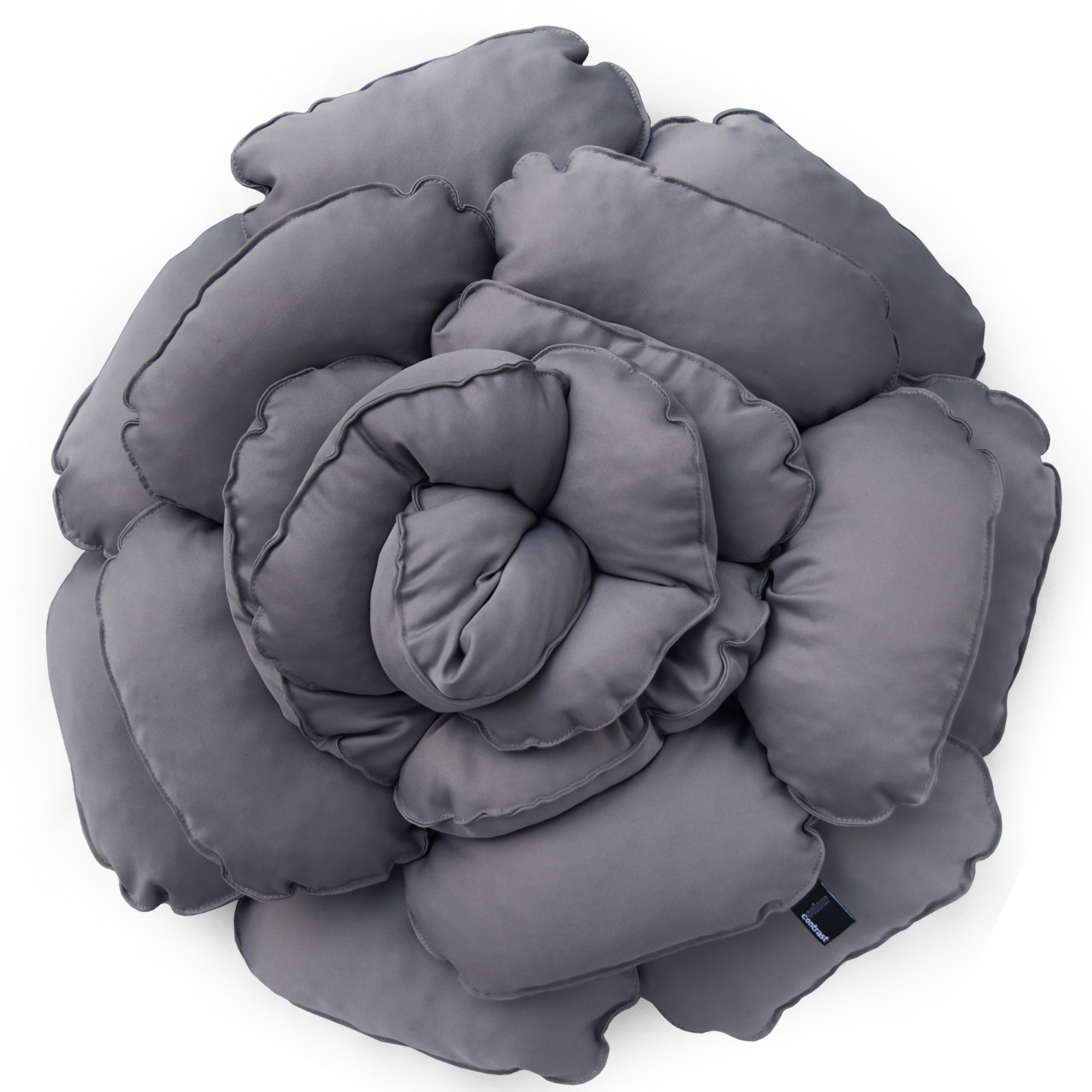 Poduszka dekoracyjna kwiat ROXANNE szary        55cm