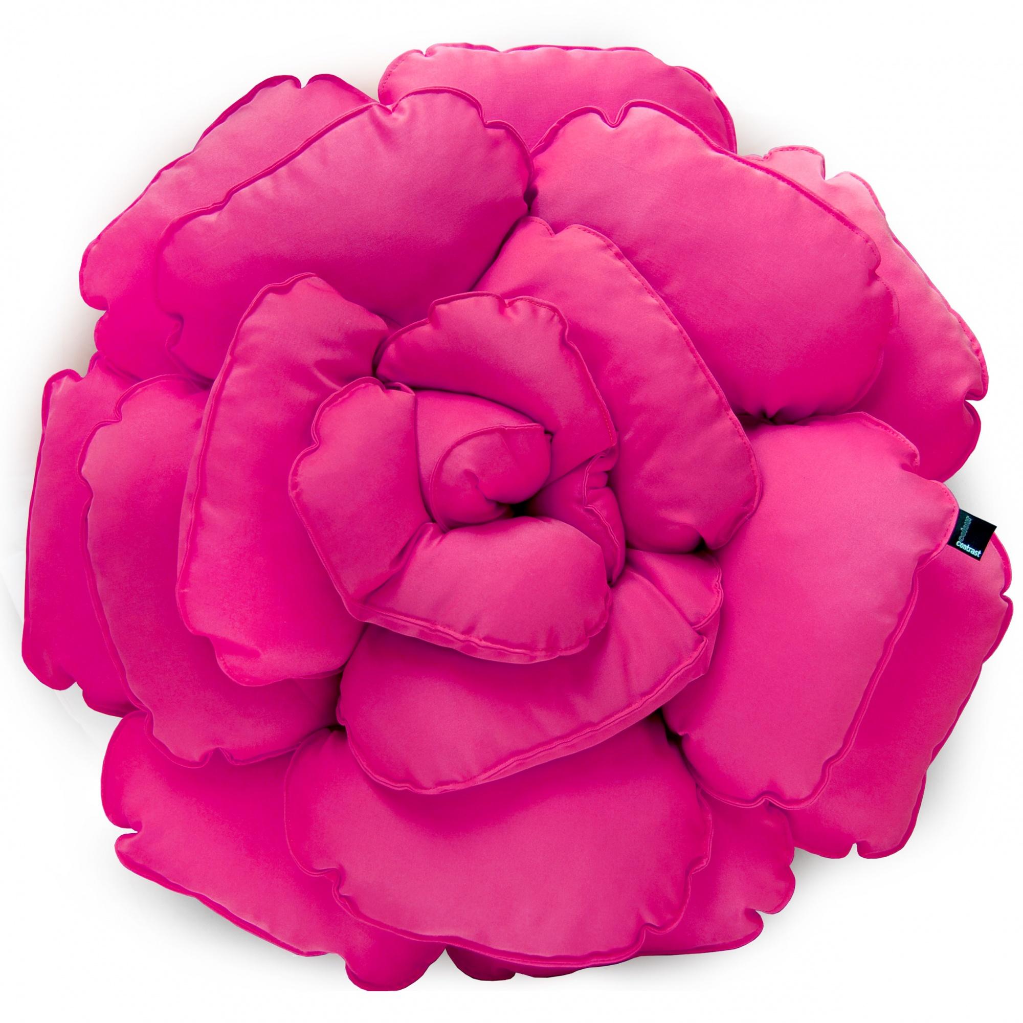Poduszka dekoracyjna kwiat ROXANNE różowy 55cm