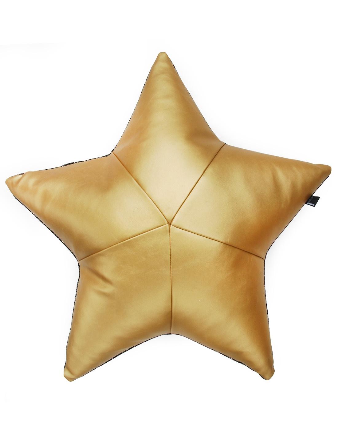 złoto - czarna poduszka gwiazdka