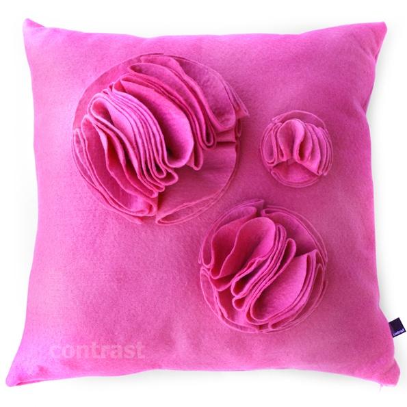 TRZY filcowe BĄBLE pink