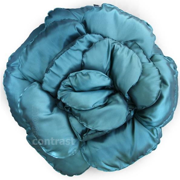 50% Poduszka dekoracyjna kwiat ROXANNE 02 turkus