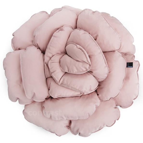Poduszka dekoracyjna kwiat ROXANNE pudrowy różowy 55cm