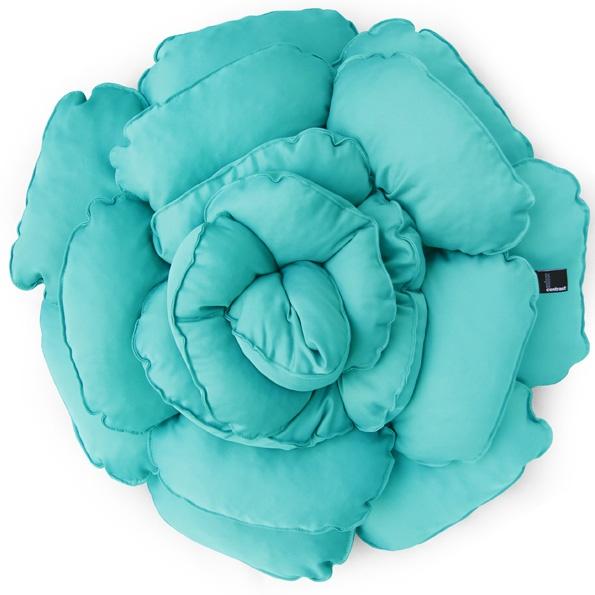 Poduszka dekoracyjna kwiat ROXANNE miętowa 55cm