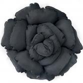 Poduszka dekoracyjna kwiat ROXANNE czarna 55 cm