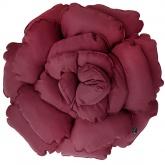 Poduszka dekoracyjna kwiat ROXANNE bordowa 55cm