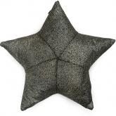 czarno -  złota poduszka gwiazdka